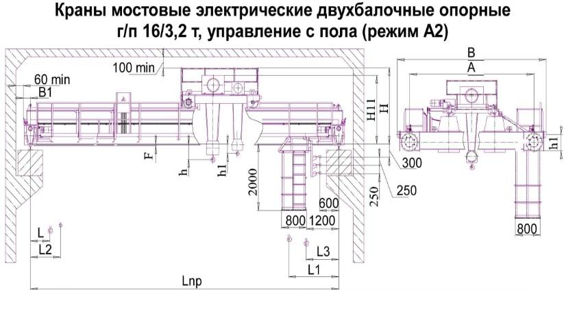 Схема мостового 16/3,2т