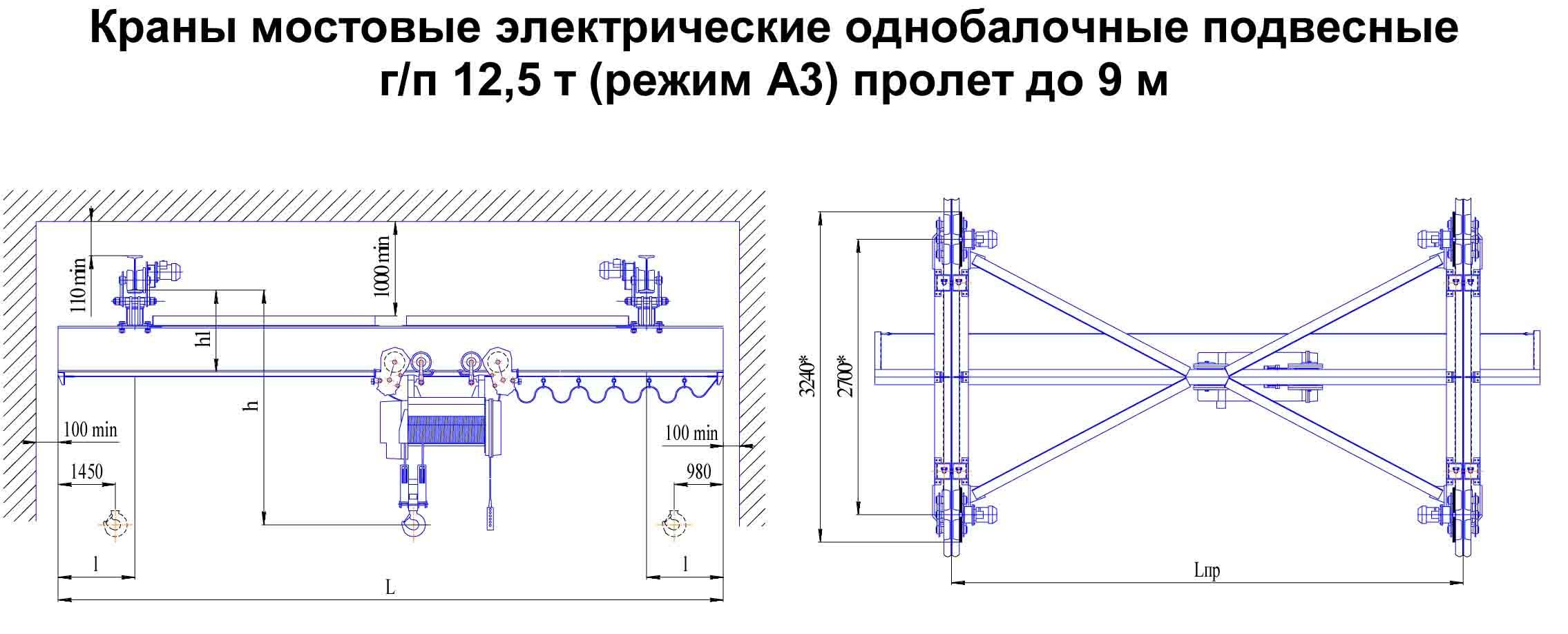 Схема ручной кран балки